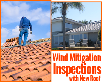 Wind Mitigation Inspections with New Roof